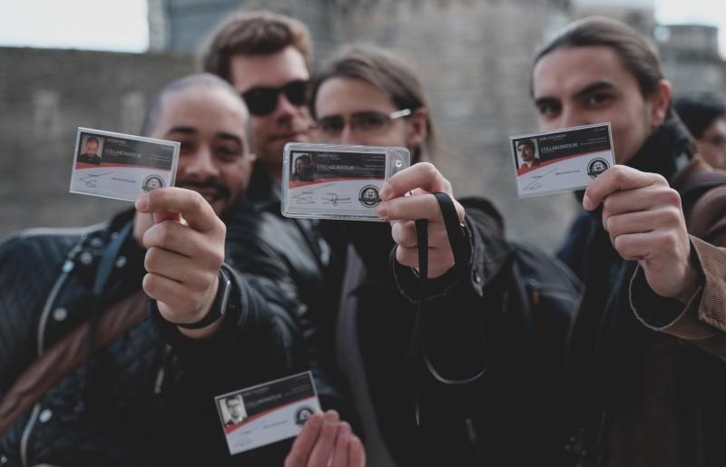 De gauche à droite : Jassem, André-Marie, Evan, Karl.