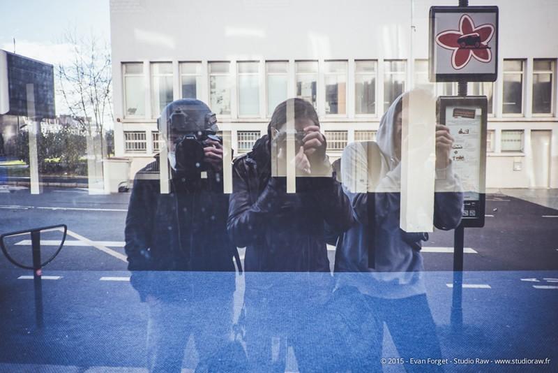 Karl, Evan et Jérémie pendant les émeutes du 21.02.15 à Nantes.