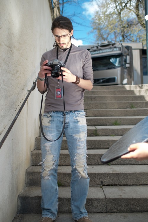Evan, photographié par Camille.