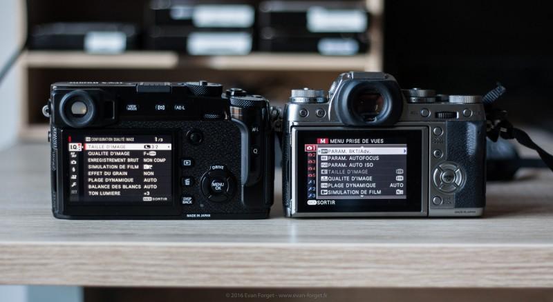 Comparatif X-Pro 2 Vs X-T1