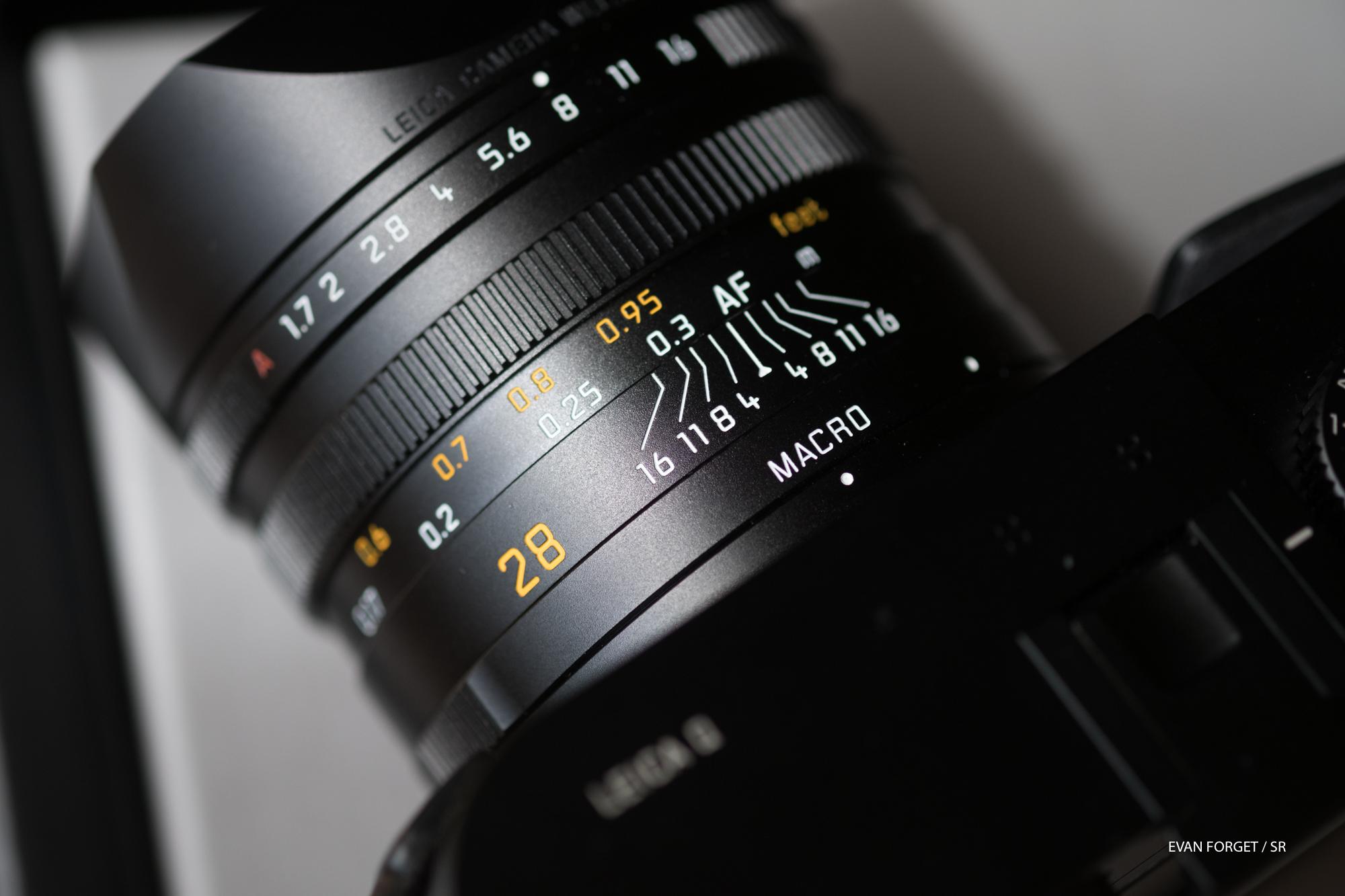 L'objectif Summilux 28mm macro f/1.7 du Lecia Q.
